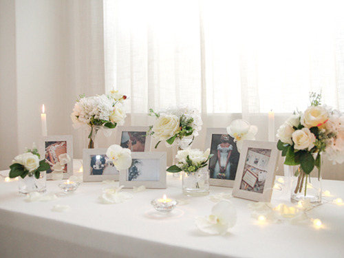 Self Wedding Photo Table - 화이트 오키드