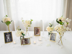 Self Wedding Photo Table-글래스화이트