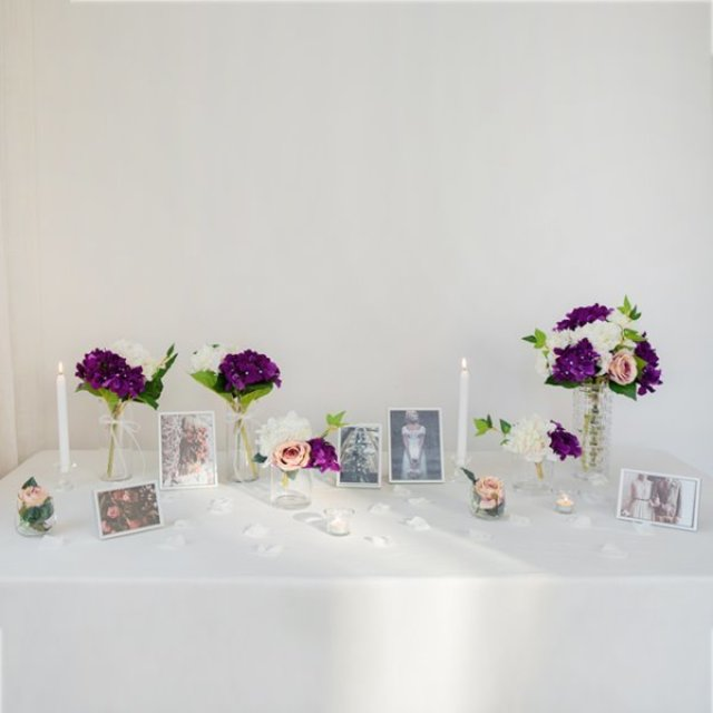 Self Wedding Photo Table-글래스바이올렛THE FLOWER MARKET