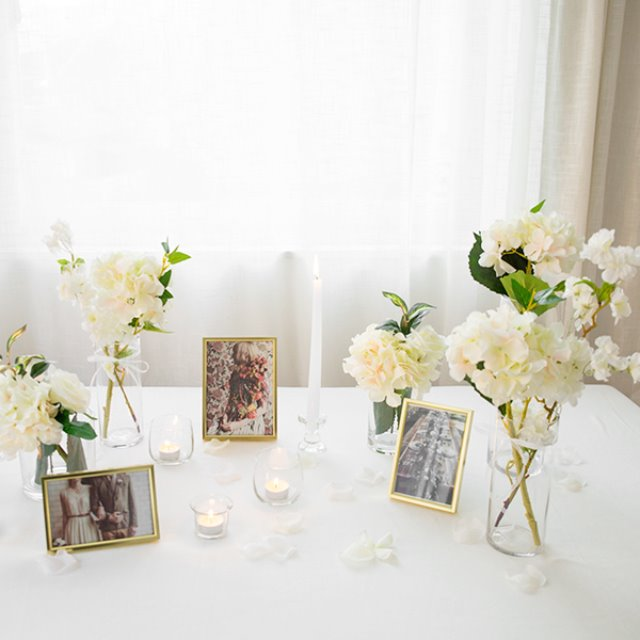 Self Wedding Photo Table-글래스화이트THE FLOWER MARKET