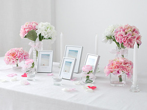 Self Wedding Photo Table-글래스핑크10%sale